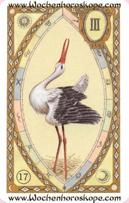 Der Storch, Wochenhoroskop