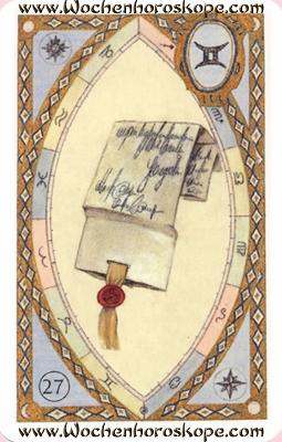 Der Brief, Wochenhoroskop