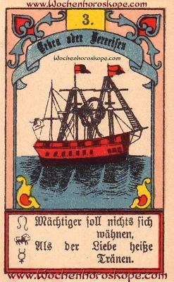 Das Schiff im Wochenhoroskop für diesen Tag