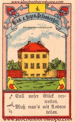 Das Haus im Wochenhoroskop für diesen Tag