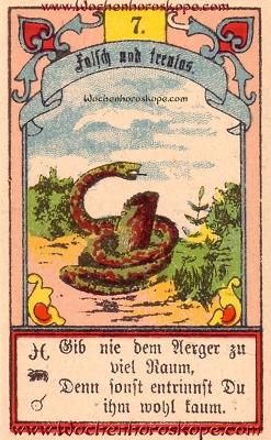 Die Schlange im Wochenhoroskop für diesen Tag