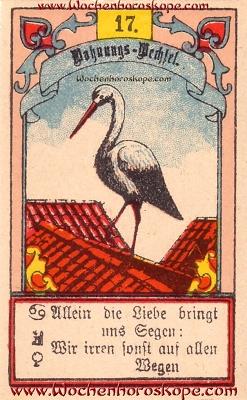 Der Storch im Wochenhoroskop für diesen Tag
