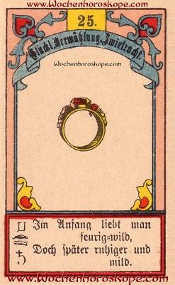 Der Ring im Wochenhoroskop für diesen Tag