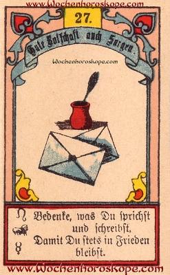 Der Brief im Wochenhoroskop für diesen Tag