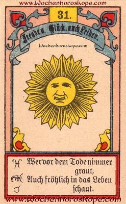 Die Sonne im Wochenhoroskop für diesen Tag