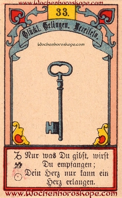 Der Schlüssel im Wochenhoroskop für diesen Tag