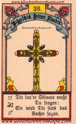 Das Kreuz im Wochenhoroskop für diesen Tag